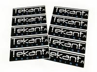 Tekant.fi Racing tarrasarja 10kpl, musta 10cm x 3cm