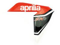 Etukatteen tarra (oikea, puna/musta), Aprilia RX/SX 06-17