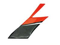 Etukatteen sivutarra (oikea, puna/musta), Aprilia RX/SX 06-17