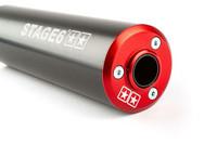 Stage6 Streetrace äänenvaimennin 50-80cc (vasen), punainen