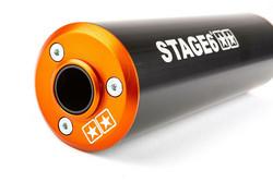 Stage6 Streetrace äänenvaimennin 50-80cc (oikea), oranssi