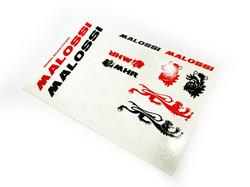 Malossi tarra-arkki musta/puna/valko 11,5x16,8cm