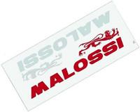 Malossi tarrat 2x punainen ja valkoinen, 8,3x2cm.