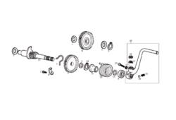 Käynnistyspolkimen rattaan lukkorengas 11mm, Derbi Senda