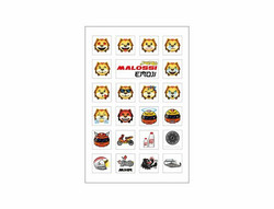 Malossi tarra-arkki emoji 11x16,6cm