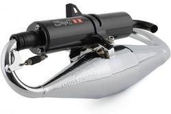 Stage6 Pro Replica pakoputki kromi/carbon, Yamaha skootterit (pysty)