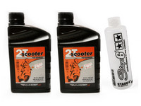 2x Novascoot 2T-öljy 1L, täyssynteettinen + ILMAINEN Stage6 öljymittapullo