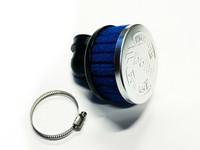 Polini ilmanputsari lyhyt 90° 38mm, sininen