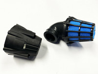 Polini Air Box ilmanputsari 90° 37mm, sininen