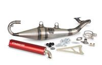 Stage6 Pro Replica MK2 tehopakoputki + punainen äänenvaimennin, Yamaha skootterit (vaaka)