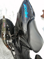 TNT takakate (oikea), metallinhohto musta, Yamaha Aerox <-12