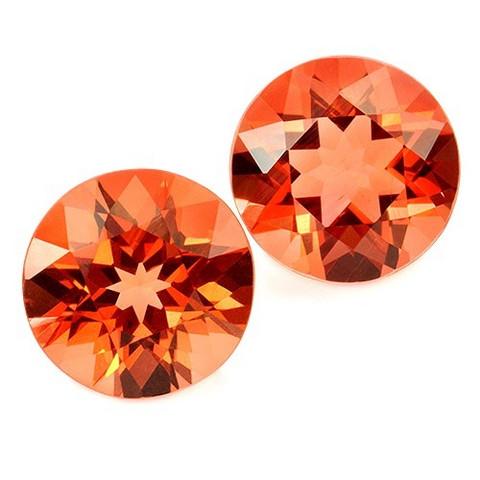 Kirkas oranssi Andesiini jalokivipari 5,6mm