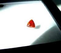 Sphalerite kolmio, harvinainen värisävy