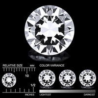 Danburiitti timanttimainen briljantti hiottuna 5,5mm