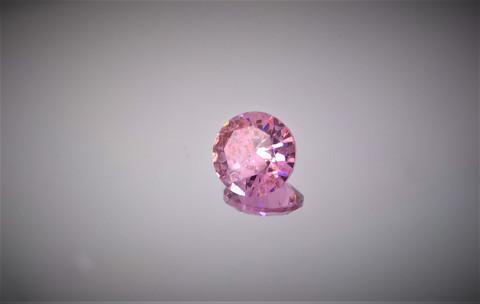 luonnon Zircon 9mm pinkki briljanttii, kuvallisella laatutodistuksella