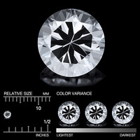 (461)Safiiri timanttimainen , kirkas  2,75mm