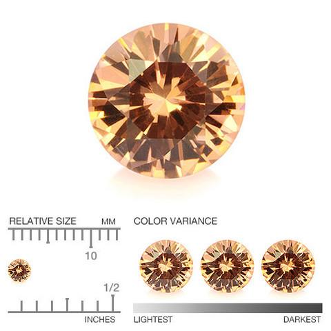 Malaia oranssi granaatti 3mm VVS