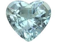 Akvamariini sydän ( mukana kuvallinen aitoustodistus )