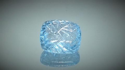 Käsin hiottu tyyny hiontainen topaasi, sky blue
