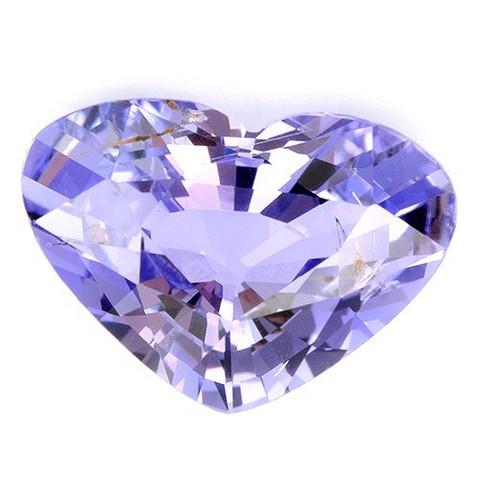 safiiri sydän , vaalea violetti  kuvallisella aitoustodistuksella