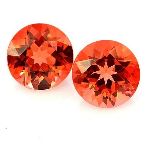 Kirkas oranssi Andesiini jalokivipari 6 mm