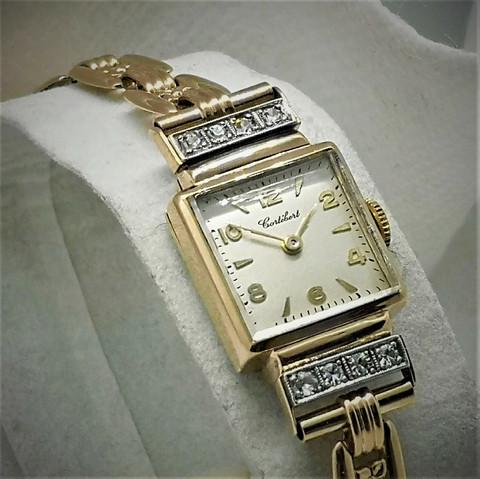 Suomalainen 14ct kultainen timanttikello, 1953