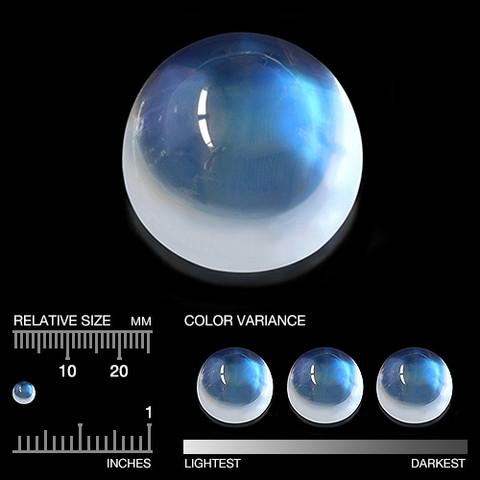 moonstone  / sinisellä sävyllä 4,5mm