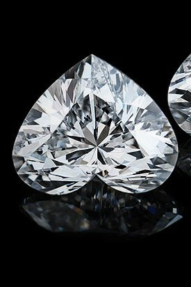 timantti sydän hionta 4,49mm / 0,24ct / River / VS1 /  GIA todistuksella
