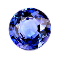 5mm briljantti pyöreä sinisafiiri kuvallisella aitoustodistuksella