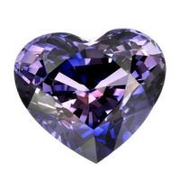 (473 ) safiiri sydän , väriä vaihtava erikoisuus kuvallisella aitoustodistuksella