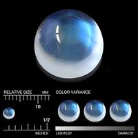 moonstone  / sinisellä sävyllä 3,5mm