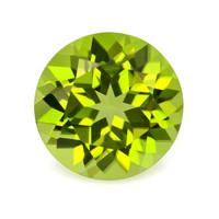 peridootti 1ct / 6mm pyöreä hyvä vihreä sävy ja loiste