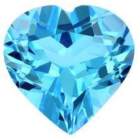 sydän topaasi 6mm