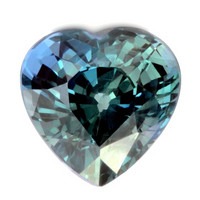 SAFIIRI, sydän 1ct , kuvallisella aitoustodistuksella