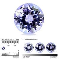 violetin sininen Tansaniitti 5,8mm
