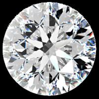 4mm pyöreä briljantti hiottu timantti Gia todistuksella