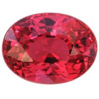 (466) Ovaali kirkas rubiini kuvallisella aitoustodistuksella