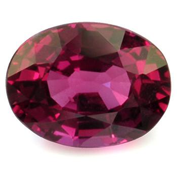 (463) Ovaali kirkas rubiini kuvallisella aitoustodistuksella