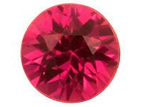 (462) kirkas Songea kaivoksen briljantti rubiini 3mm