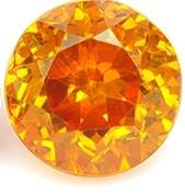 Sphaleriitti Espanjasta monisävyinen yksilö, oranssi,punainen,keltainen