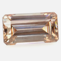 Zircon 9,7mm, , shampanjan värinen