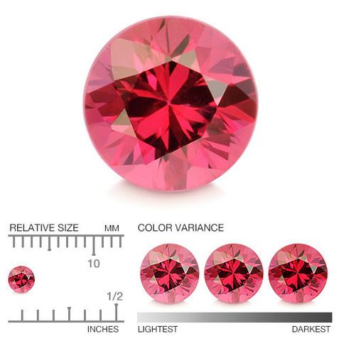 (487) kirkas Songea kaivoksen briljantti rubiini 3,2mm