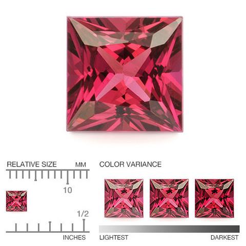 (486) kirkas Songea kaivoksen  rubiini neliö 3,8mm