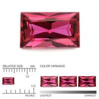 (488) kirkas Songea kaivoksen rubiini 5mm