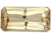 Zircon 9,5mm, , shampanjan värinen, kuvallisella laatutodistuksella