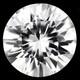 Kamputsean 1ct  jalokivi , kirkas Zircon kuin timantti