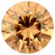 Sri Lankan  zirconi 4mm / VVS, konjakin ruskea