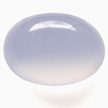 Rypäleen värinen utuisen läpinäkyvä Kalsedoni / Chalcedony 14mm