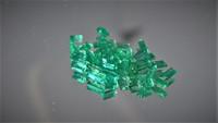 Smaragdi 1,3  x 2  - 3,2mm