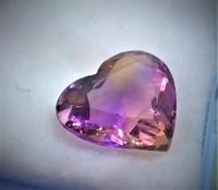 Harvinainen sydänhionta Ametriini, multicolour
